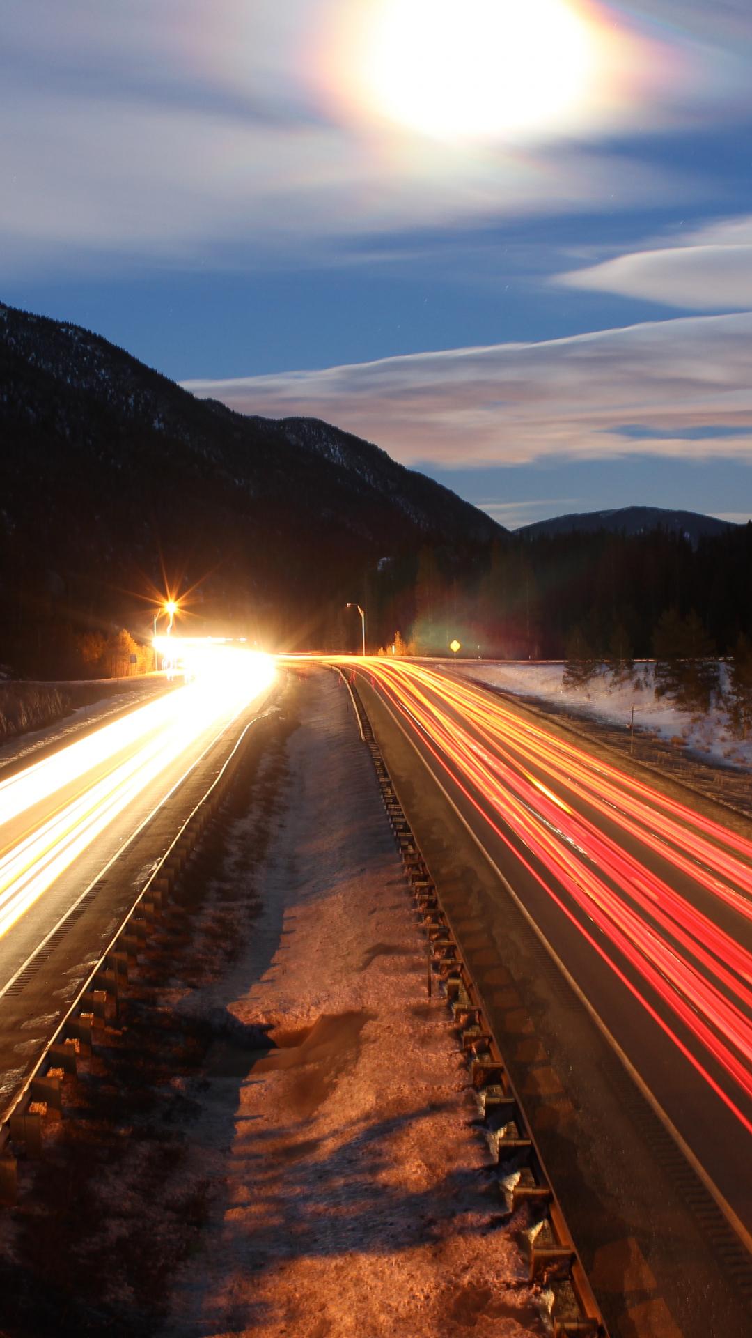 Mountain Road Colorado iPhone Wallpaper