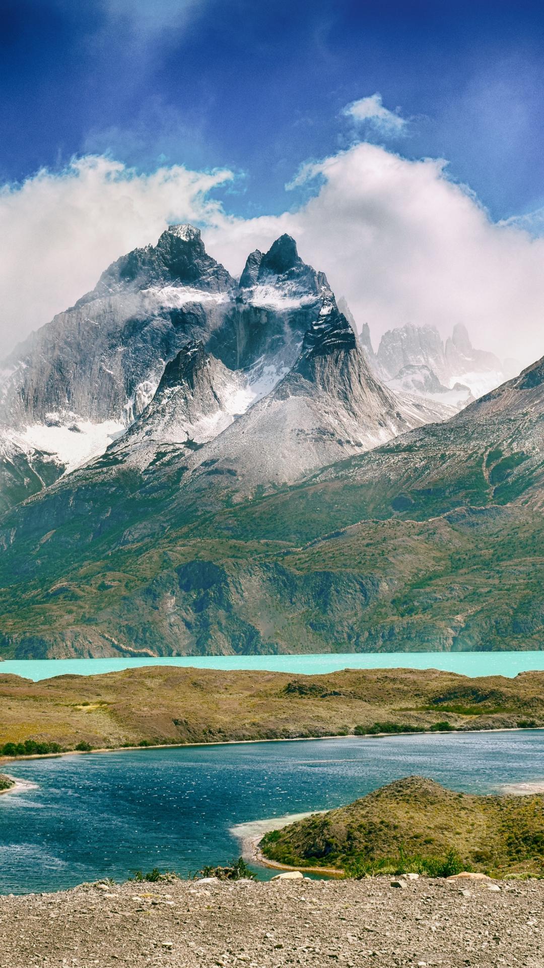 Glacial Lakes iPhone Wallpaper