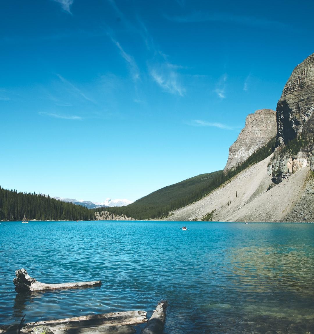 Lake, Cliff, Tree iPhone Wallpaper