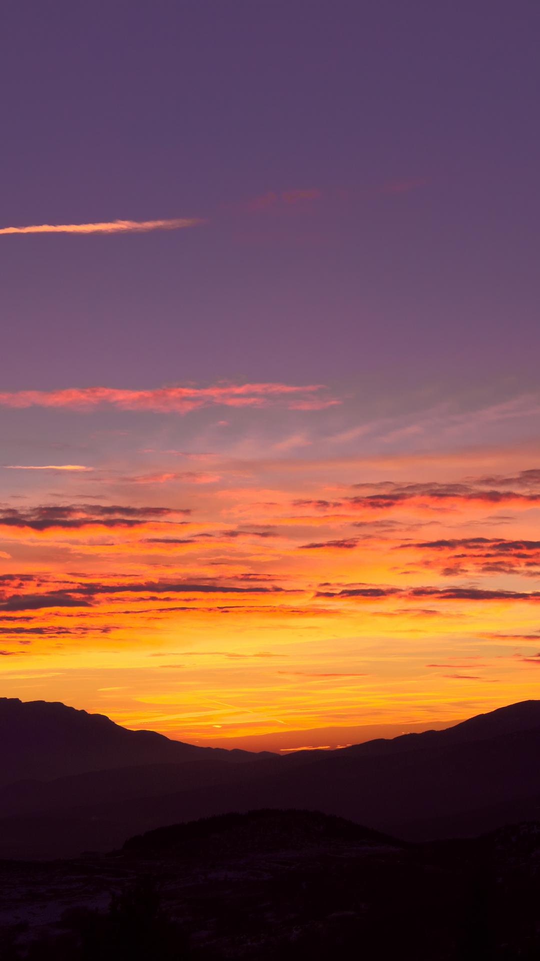 Sunset In Fontromeu iPhone Wallpaper