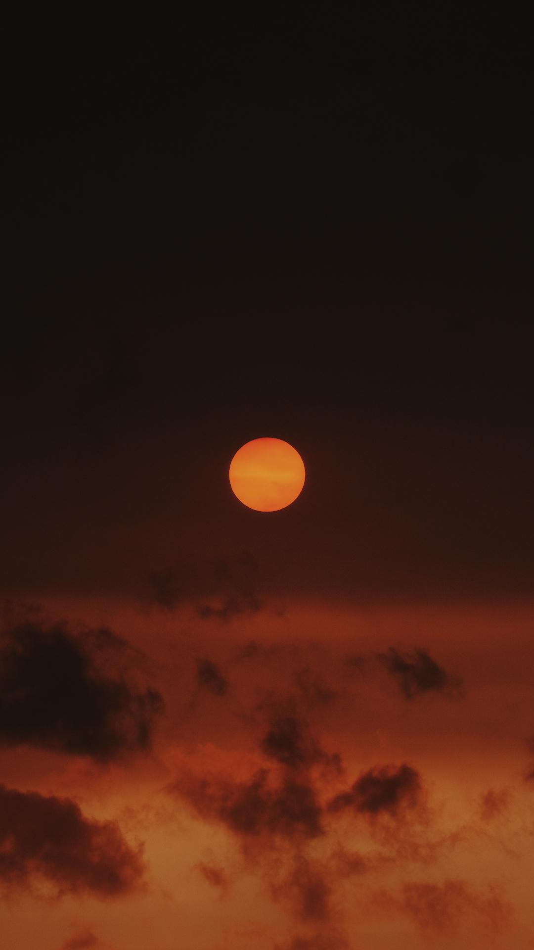 Sunset Over Richmond Park iPhone Wallpaper