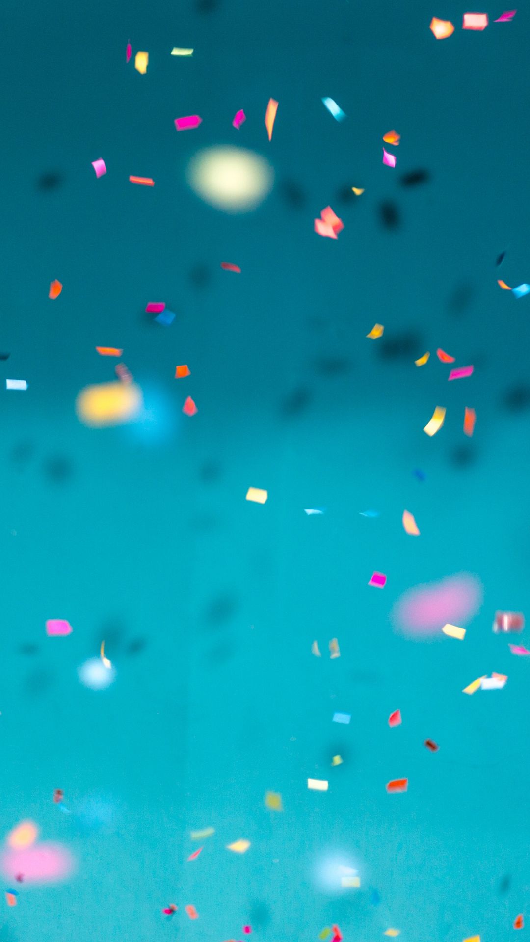 Confetti, Color And Blue iPhone Wallpaper