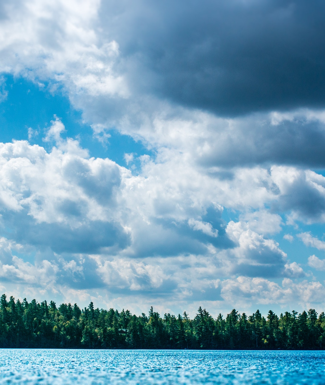 Clouds, Trees And Water iPhone Wallpaper
