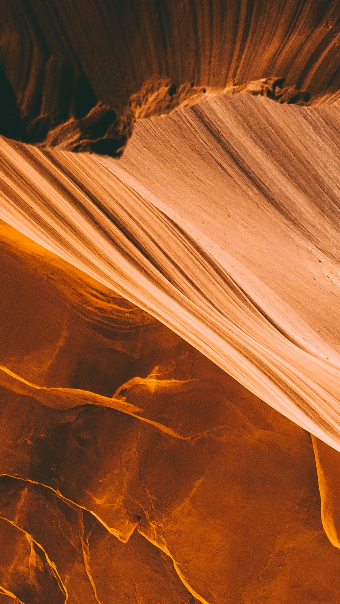 Orange, Canyon, Erosion iPhone Wallpaper