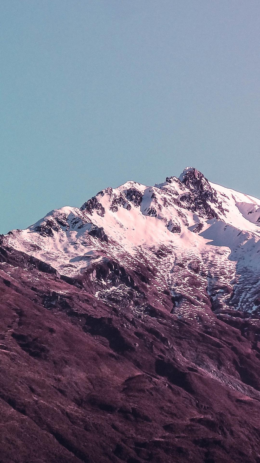 Purple Peak iPhone Wallpaper