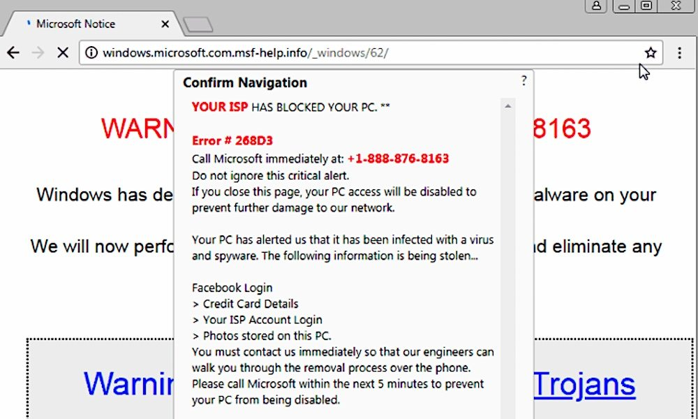 New fake tech support alert can freeze up Google Chrome on Windows