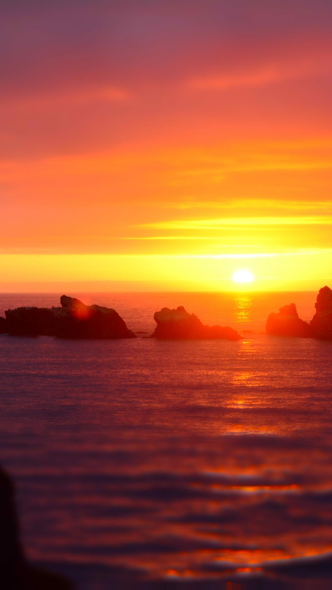 Ocean And Rocks iPhone Wallpaper
