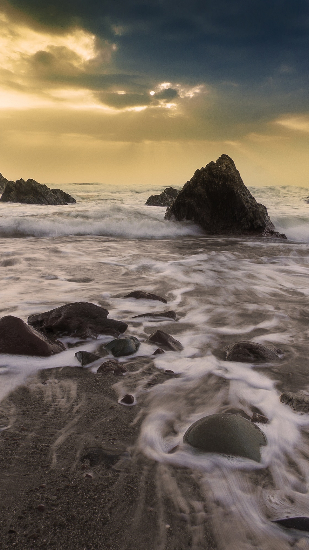 Ocean And Rock iPhone Wallpaper