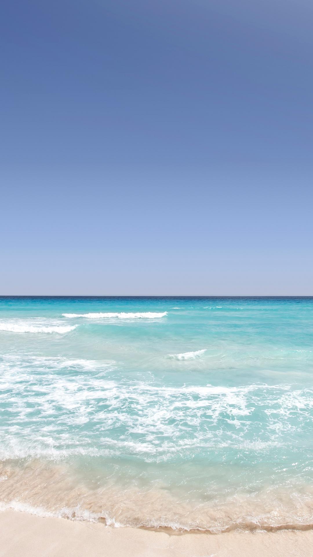 Ocean Washing Ashore iPhone Wallpaper