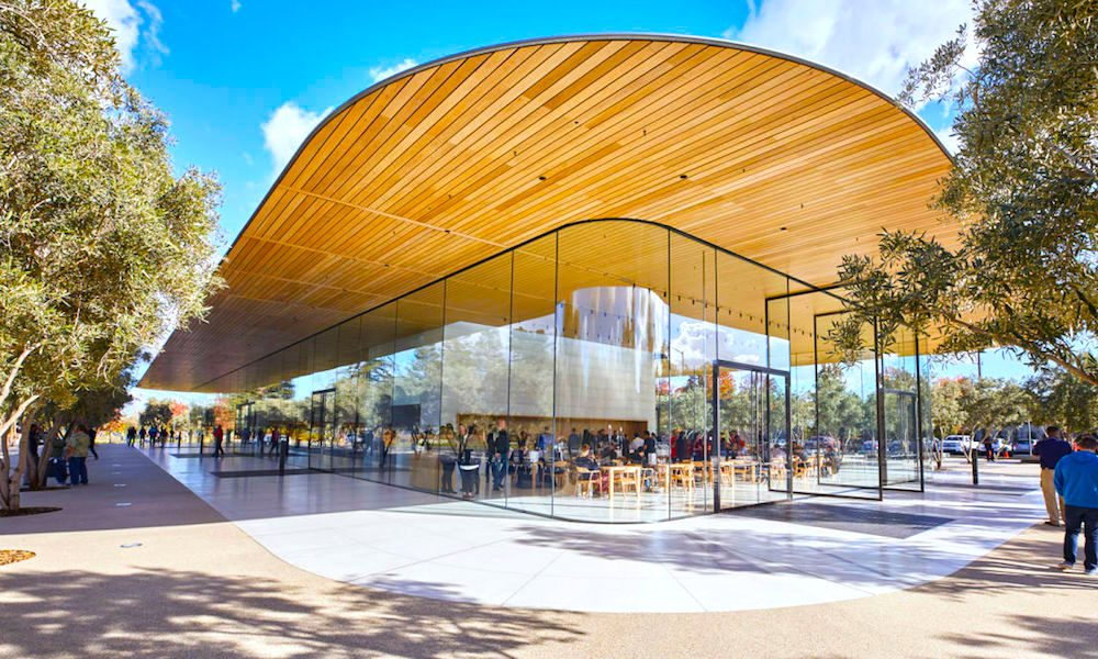 Apple's new spaceship campus is a house of pane