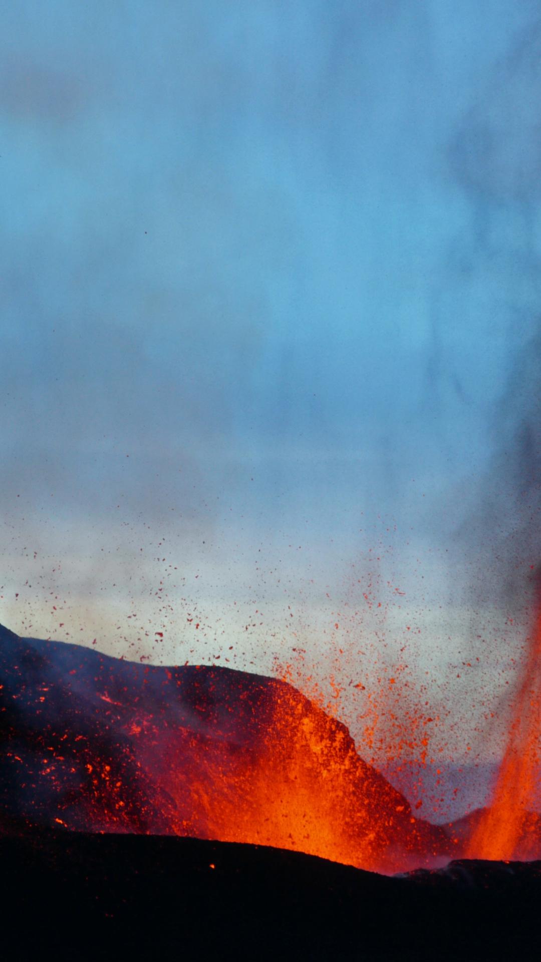 Eruption On Iceland iPhone