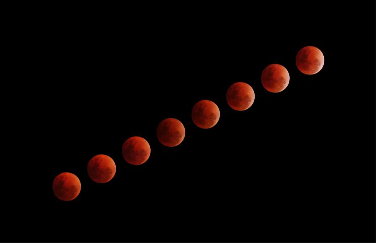 Blood Moon Eclipse Lapse Iphone Wallpaper