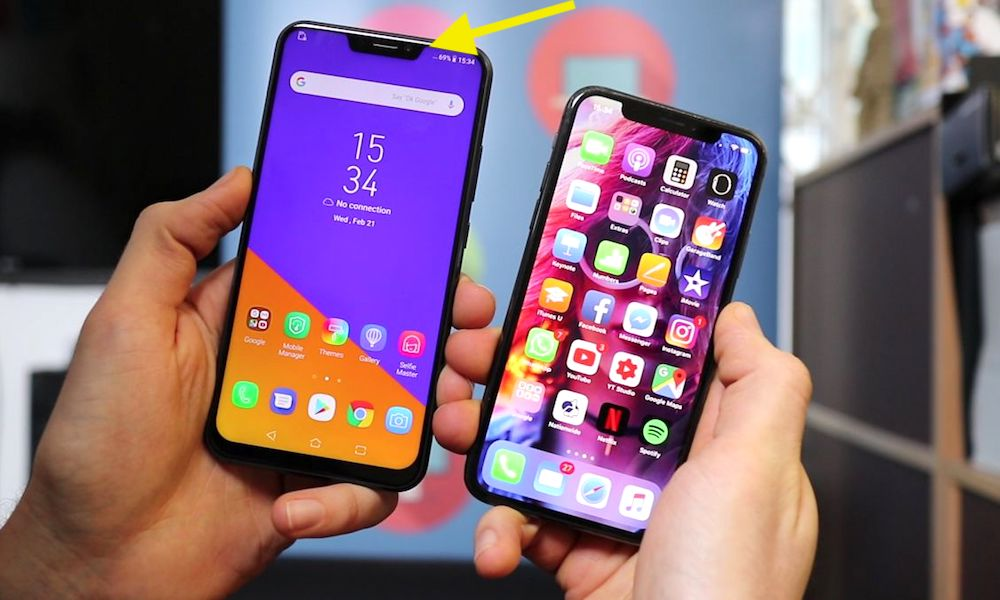 Android Notch Iphone X
