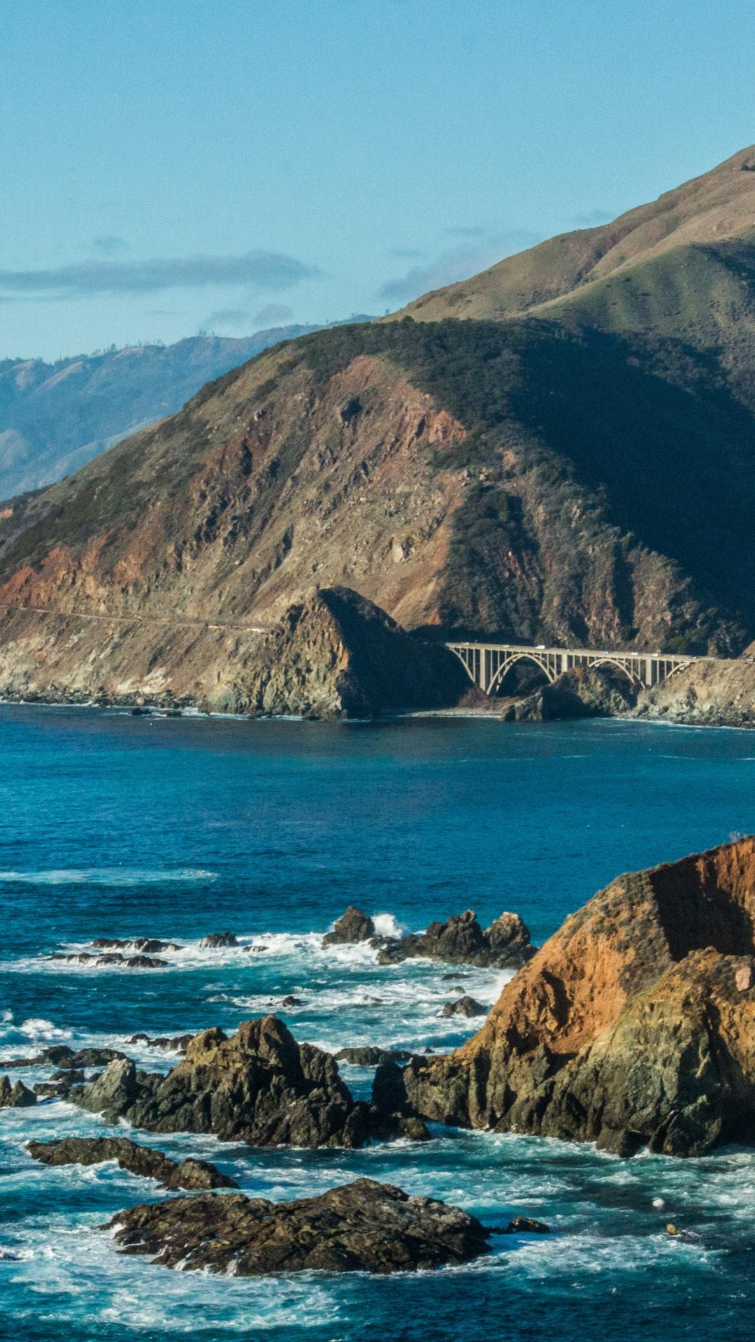 Sea And Bridge iPhone Wallpaper