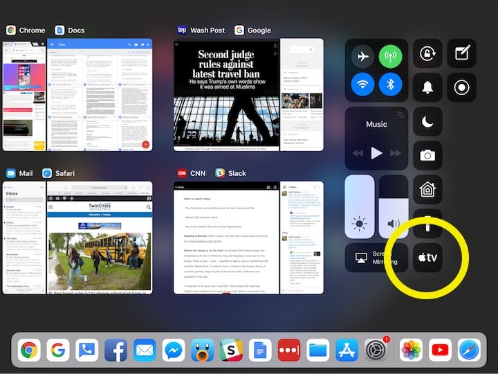 Ipad Pro App Switcher Apple Tv Remote