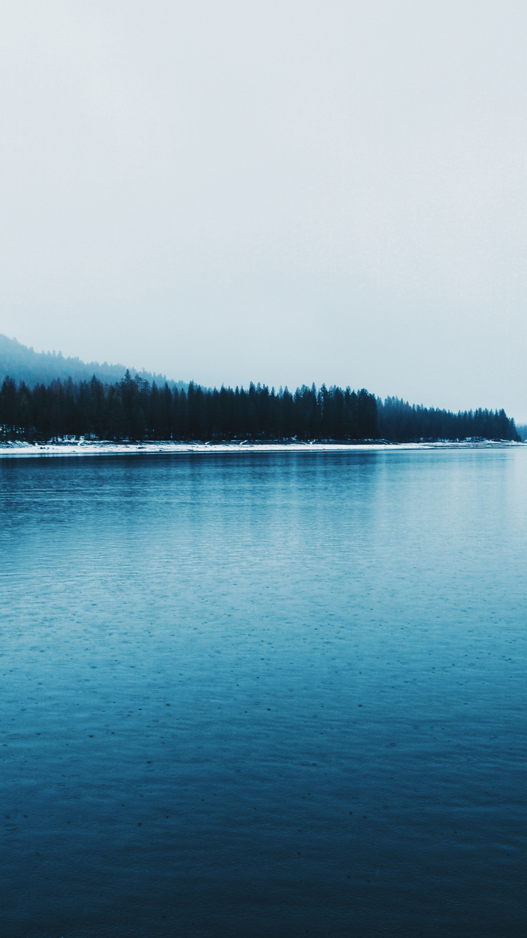Blue Lake In The Winter iPhone Wallpaper