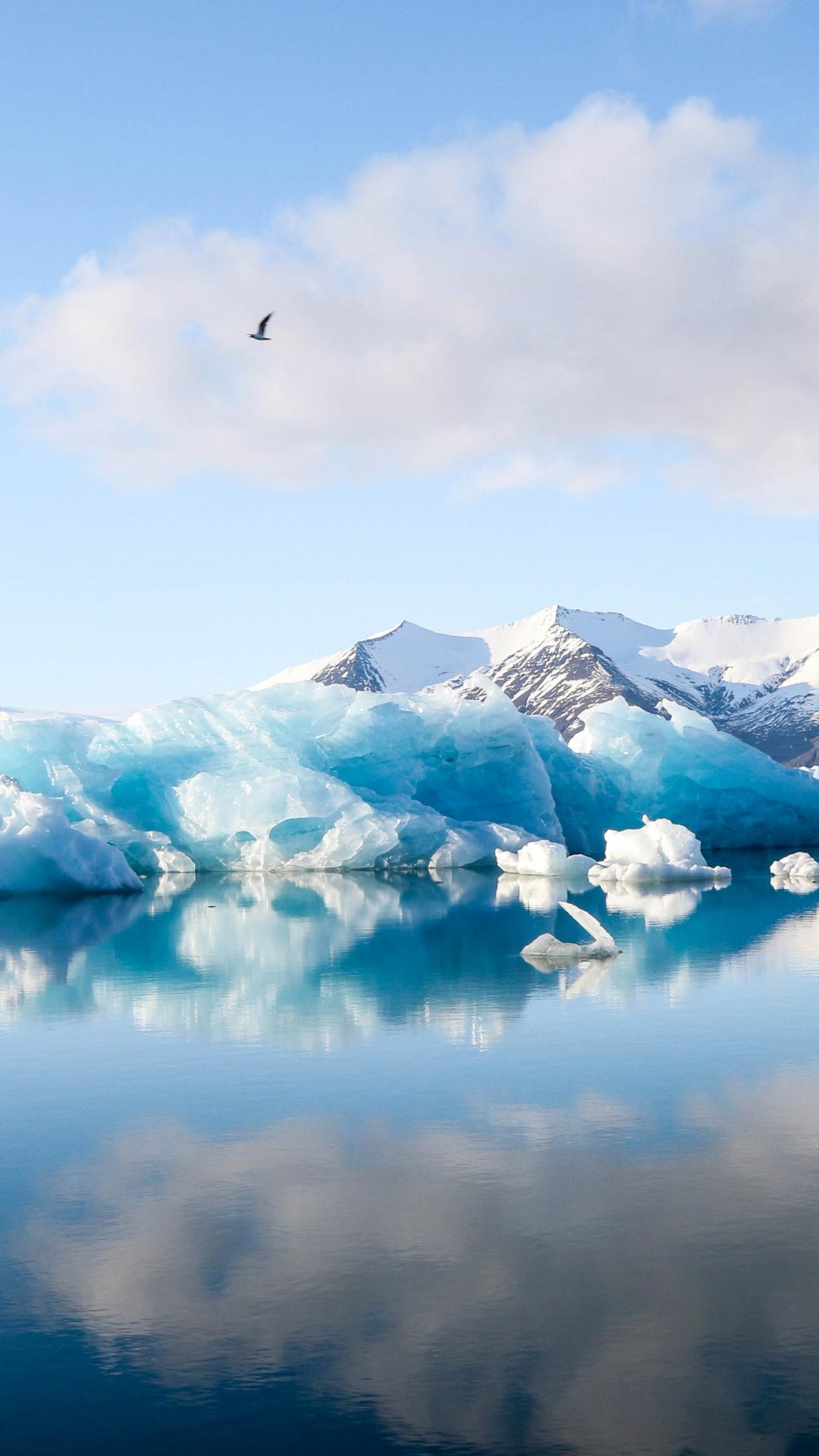 Iceberg Reflection iPhone Wallpaper
