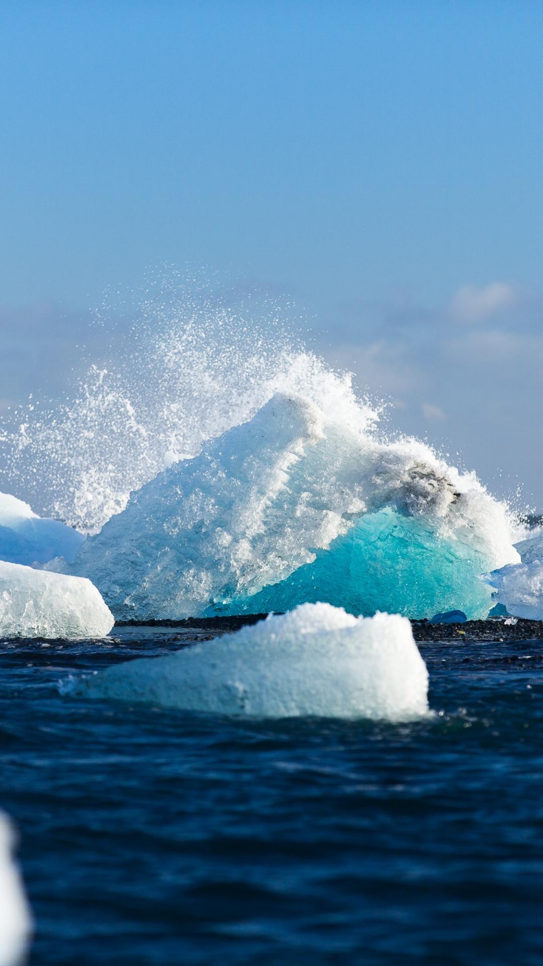 Icebergs iPhone Wallpaper
