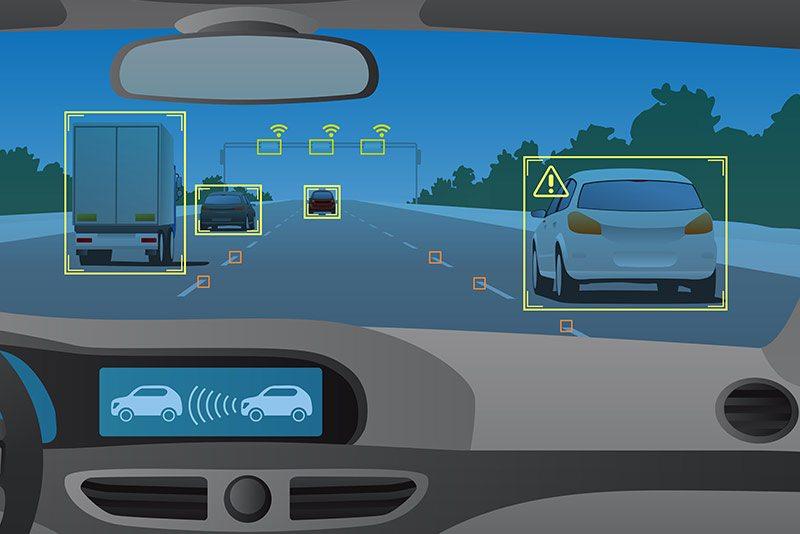 Autonomous Truck Car Selfdiriving Illustration