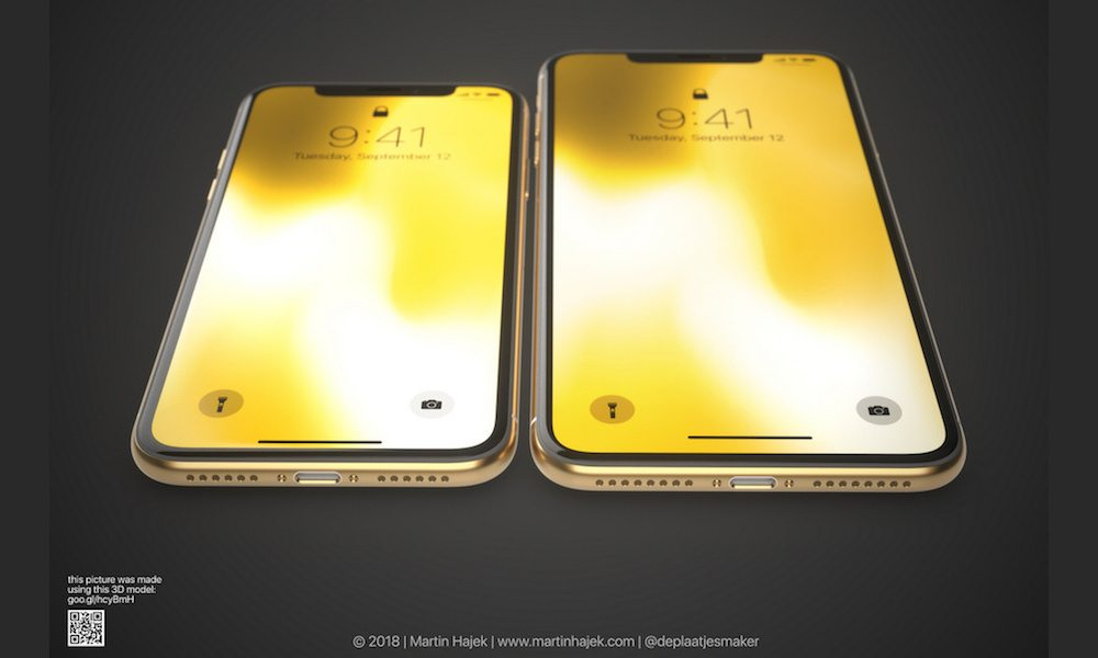 Iphone X Plus In Gold Concept Image