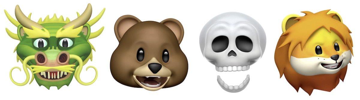 Lion Bear Dragon Skull Animoji
