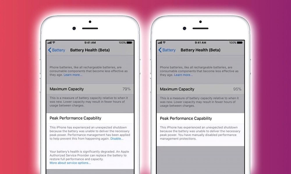 Apple Ios 11 3 Battery Health Feature