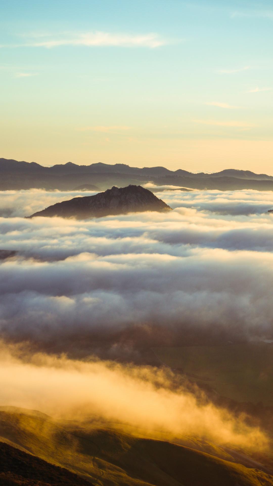 Cloud, Hill iPhone Wallpaper