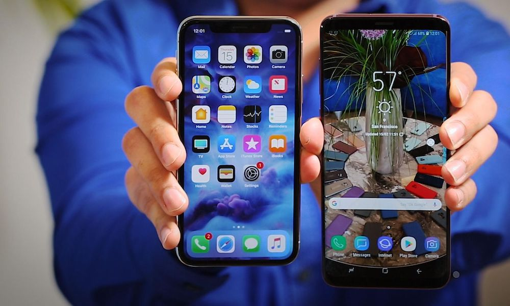 Galaxy Wallpaper Iphone 7 Plus: Samsung Galaxy S9/S9+ Beat IPhone X In Bizarre Consumer