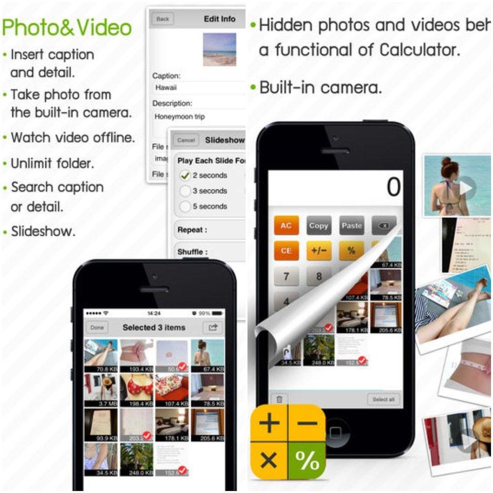 Private Photo Calculator App