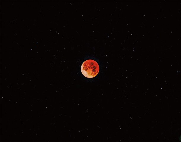 Blue Blood Moon Iphone Wallpaper
