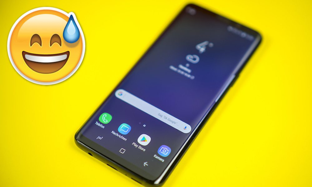 Samsung Galaxy S9 Sad Emoji