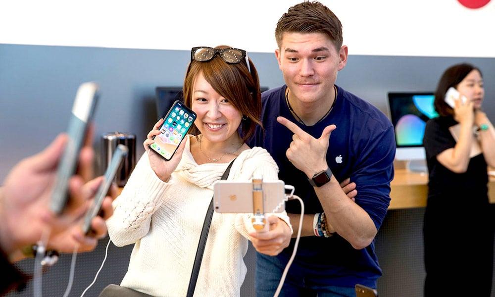 Iphone X Apple Store Tokyo Japan