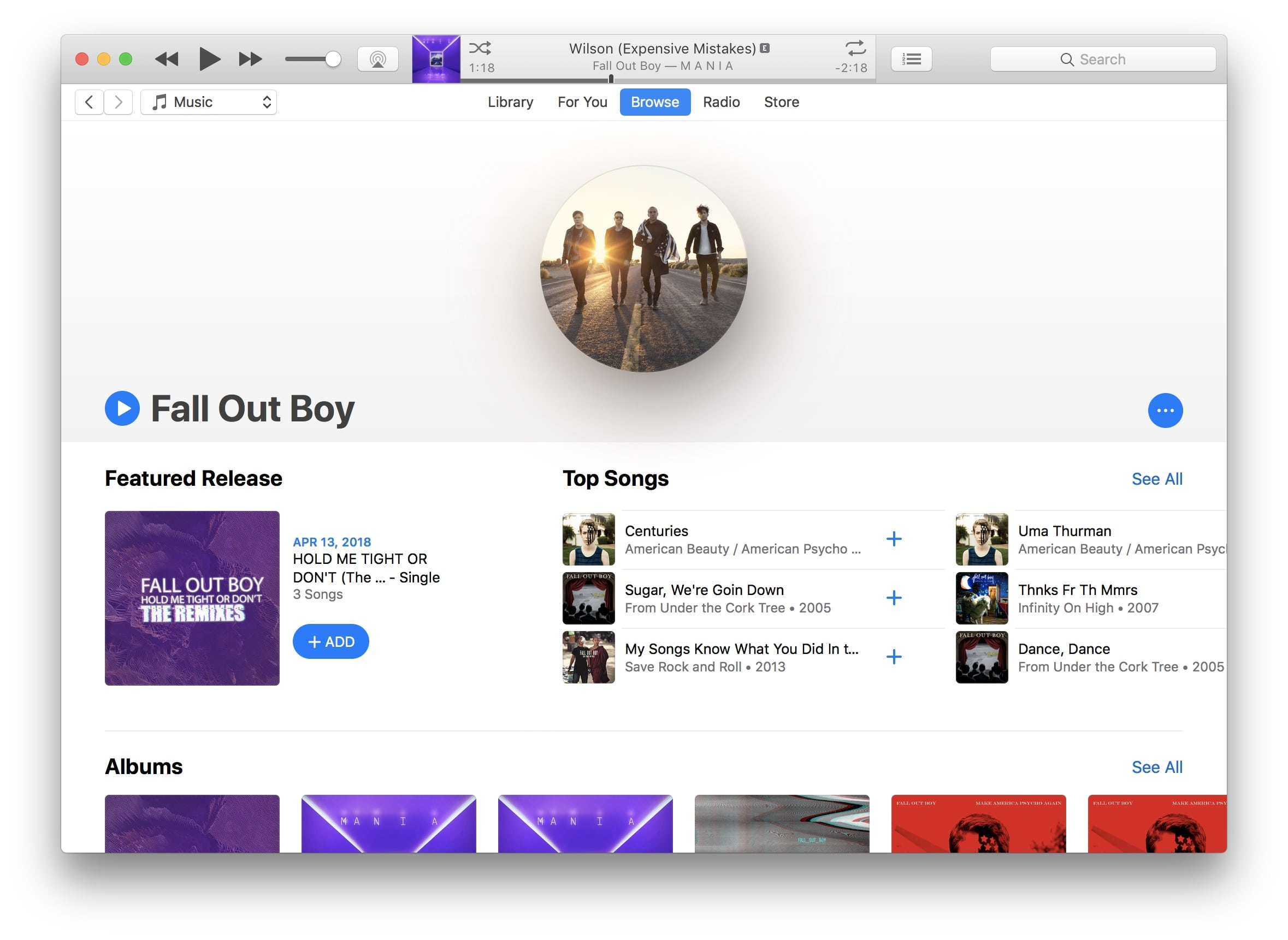 Fall Out Boy Itunes