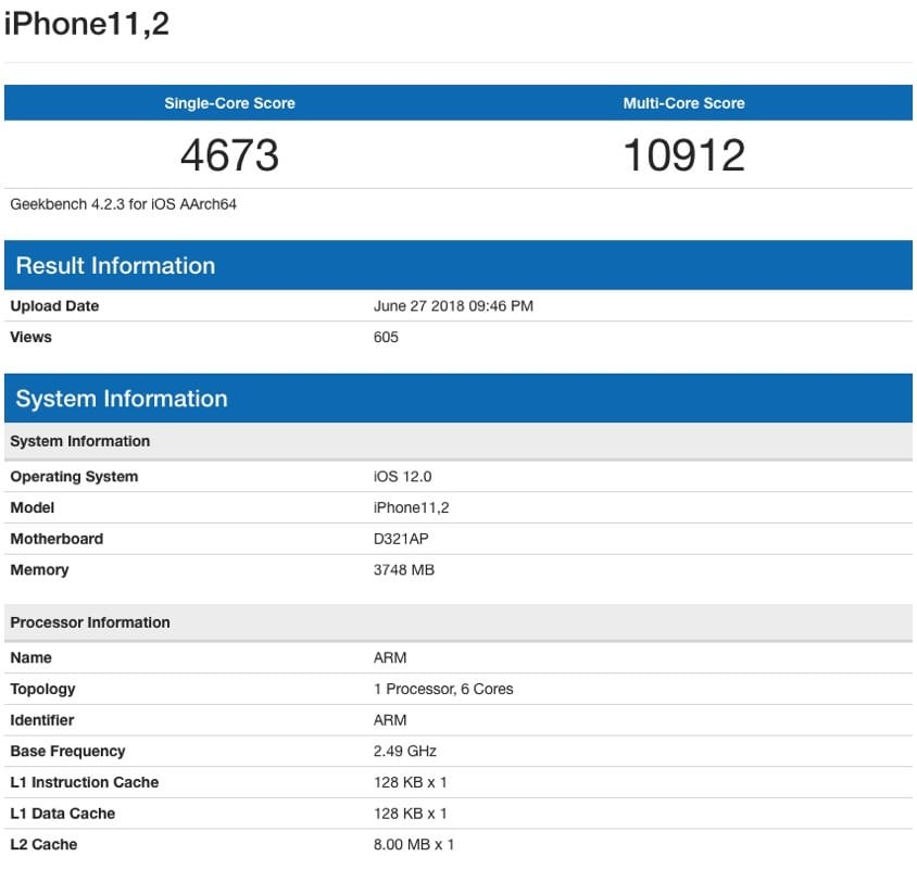 Iphone X Plus Benchmark 4gb Of Ram