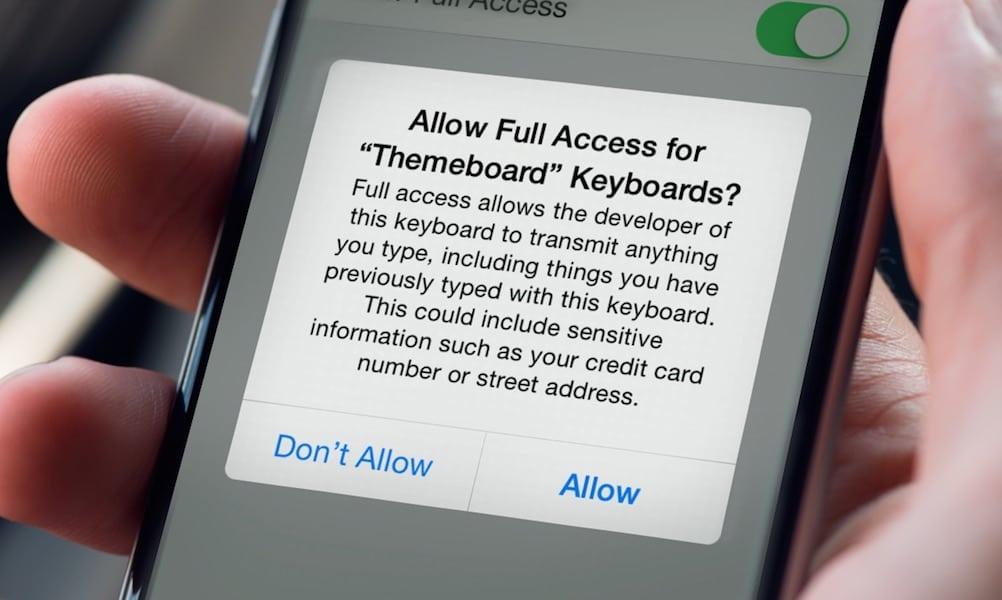 Iphone Keyboard Permissions