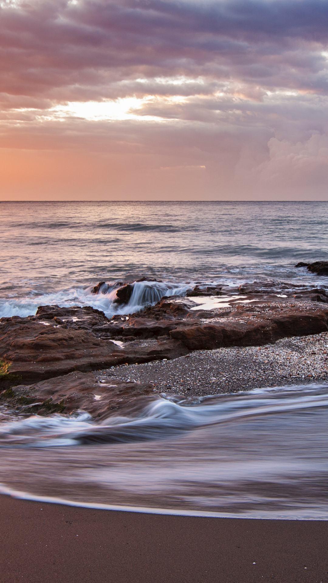 Beach Sunset iPhone Wallpaper