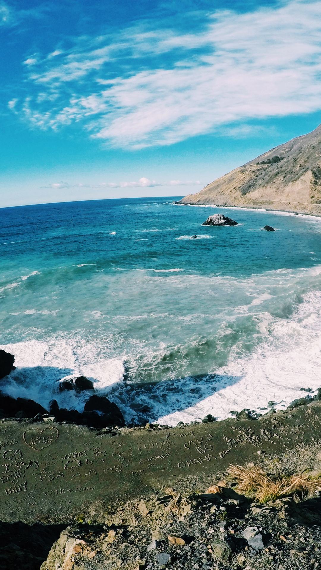 California Coast iPhone Wallpaper