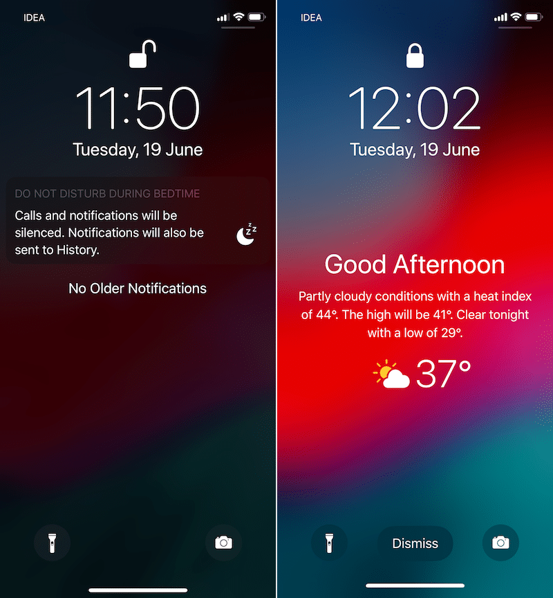 How to Add Weather Widget to iOS 12 Lock Screen
