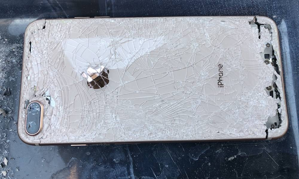 Shattered Cracked Iphone 8 Plus