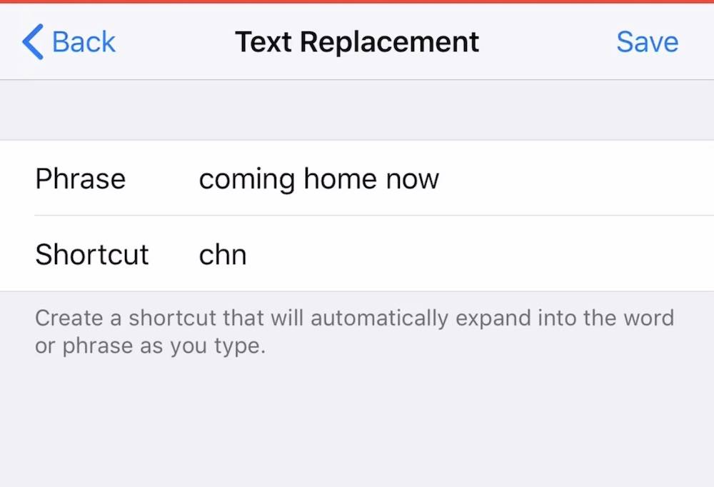 Text Replacements Ios 12