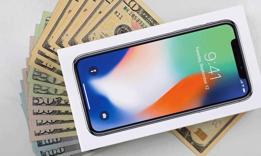 Iphone X Money Cash