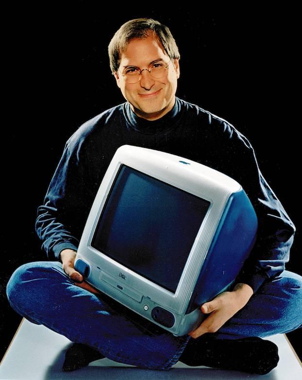Steve Jobs With Imac G3 Blue