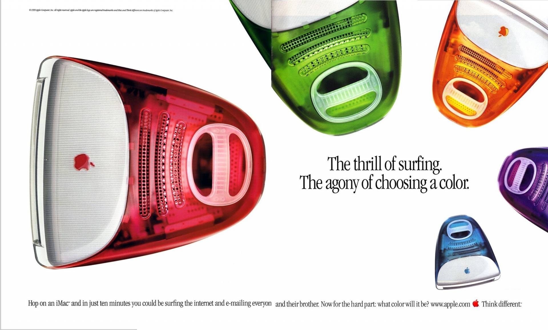 Imac G3 Ad The Thrill Of Surfing