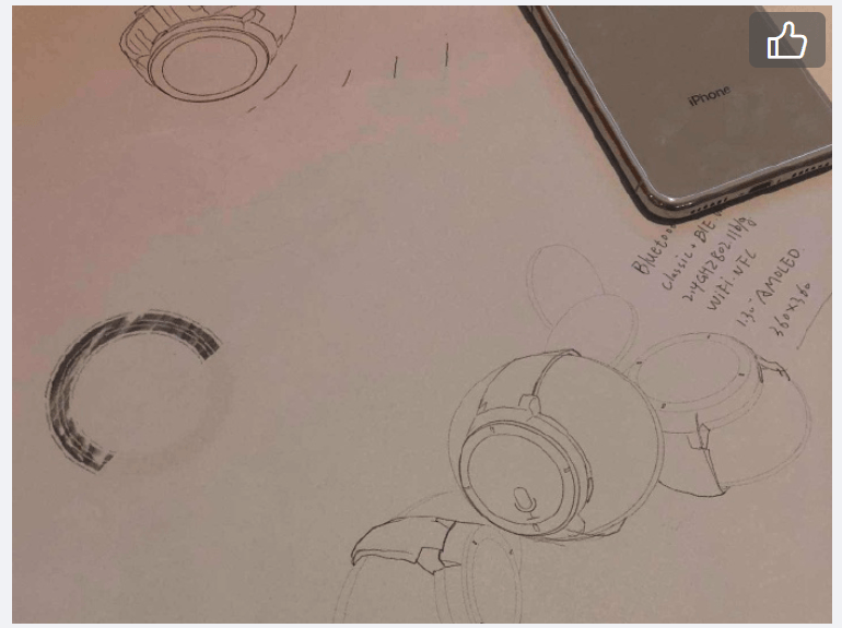 Apple Watch Leak Sketch