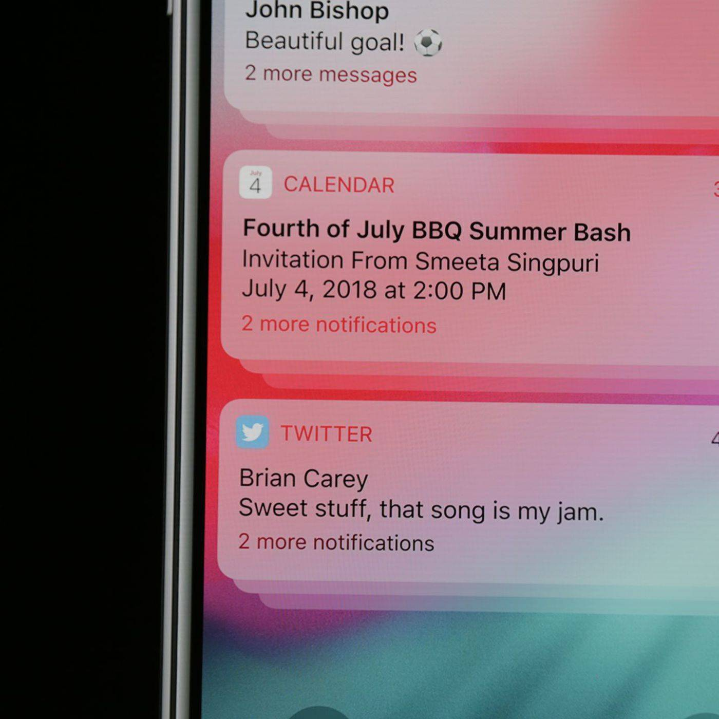 Ios 12 Grouped Notifications Iphone