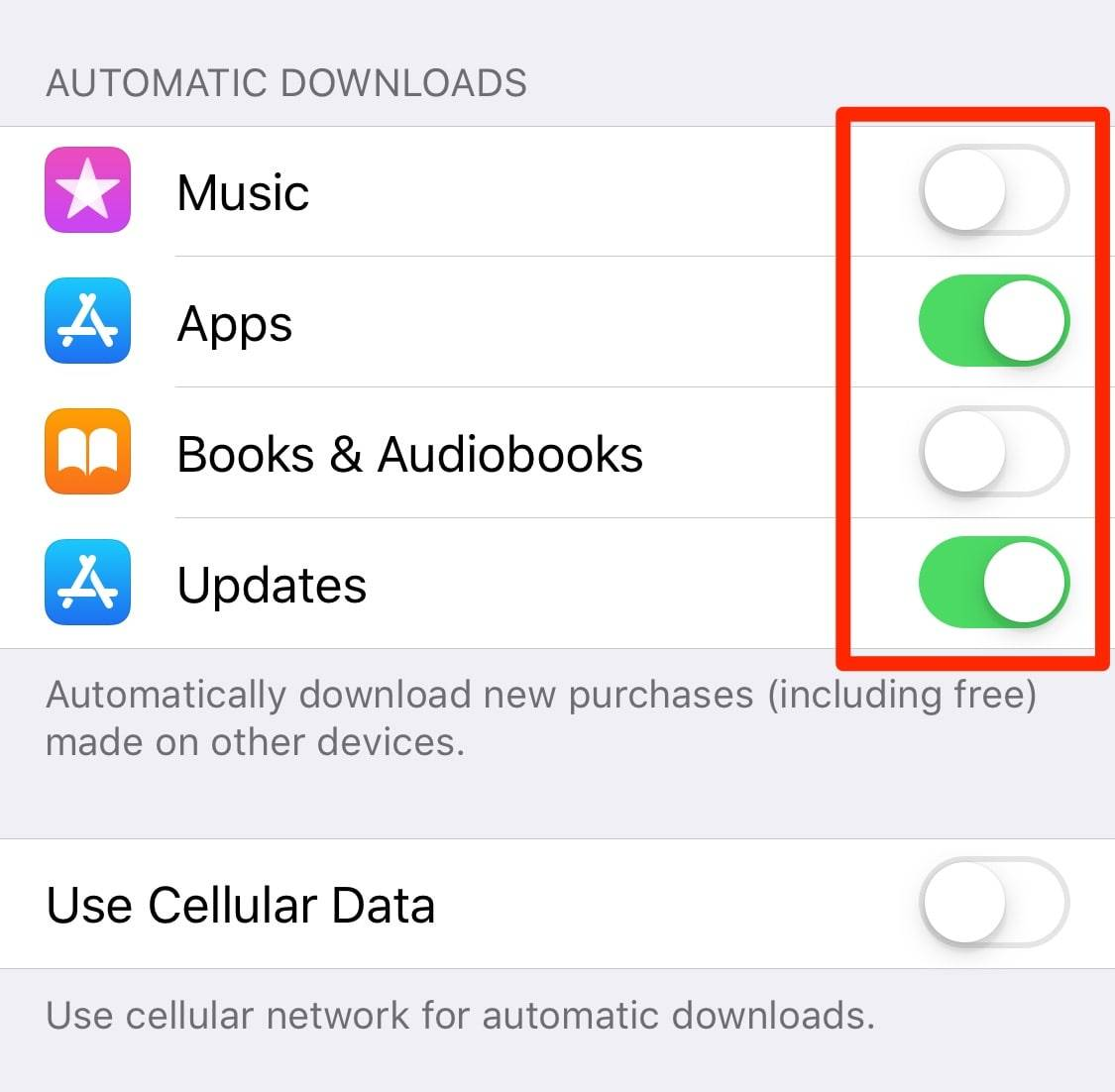 How to Disable Automatic Downloads on iPhone or iPad