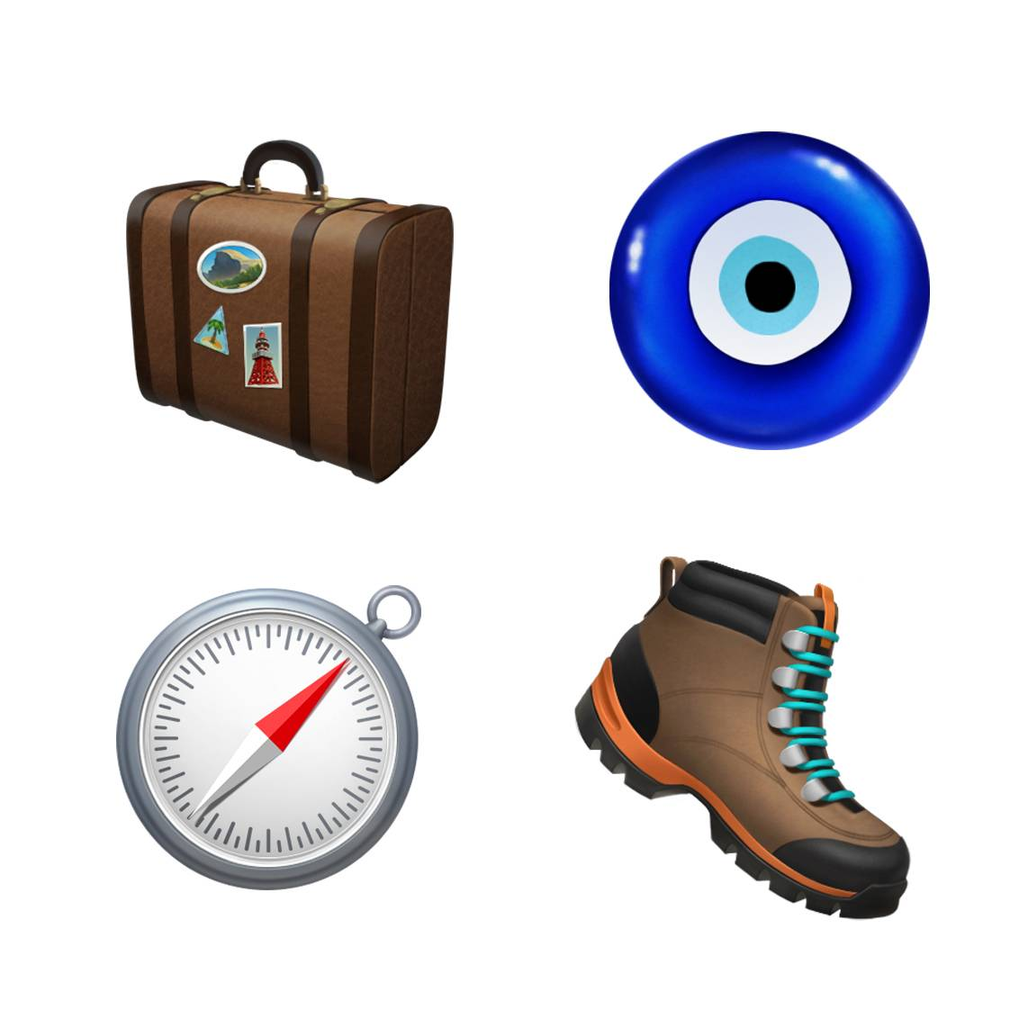 Ios 121 Emoji Update Luggage Boots Compass 10012018