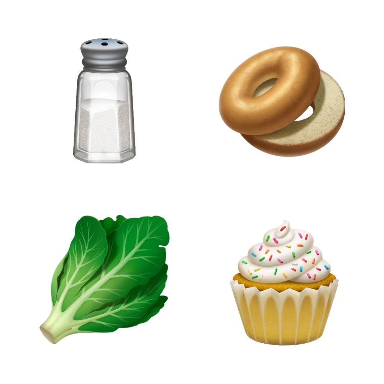 Ios 121 Emoji Update Salt Lettuce Bagel Cupcake 10012018