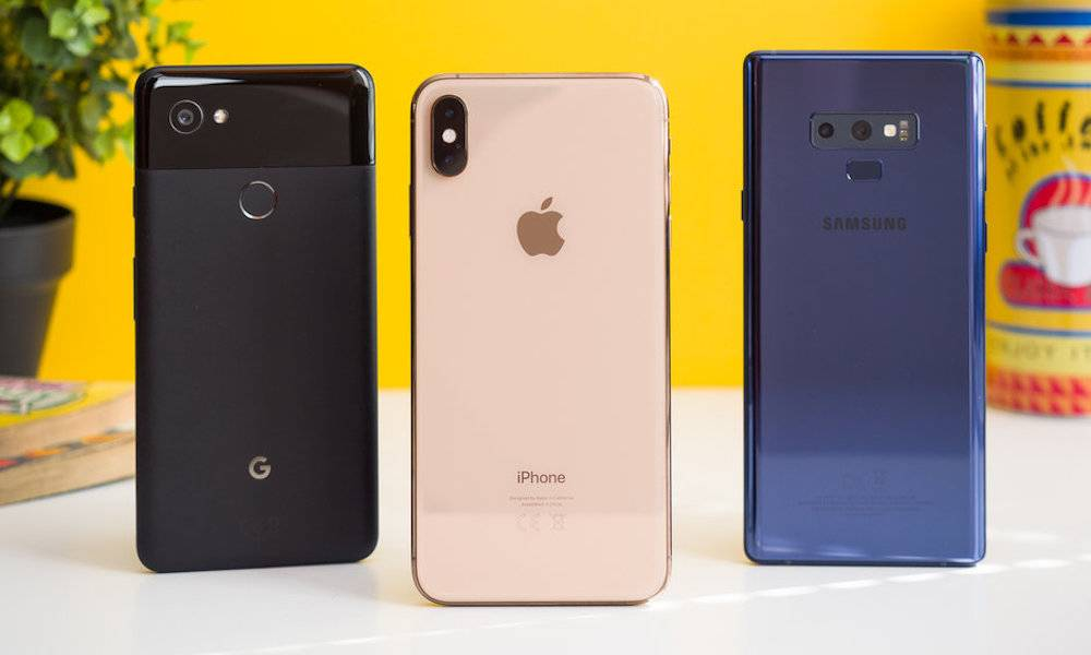 Iphone Xs Max Google Pixel Samsung Galaxy Note 9