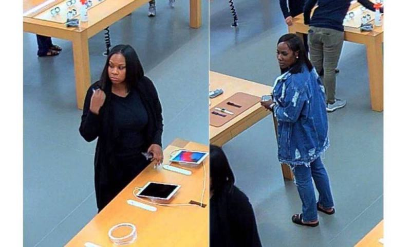 Two Female Suspects Wanted for Stealing $6K in Apple Products